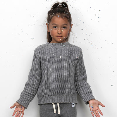 Chunky Knit Jumper Grey