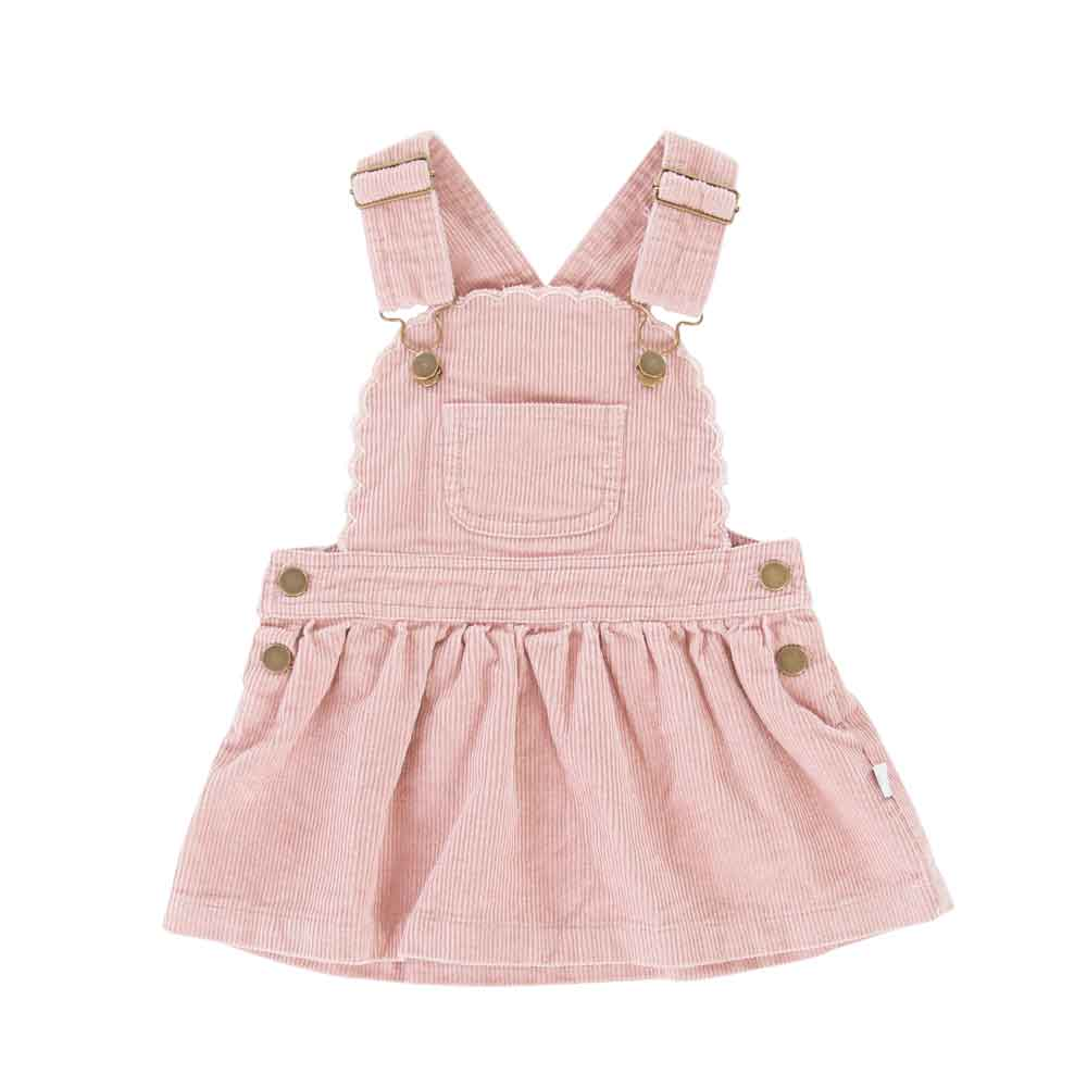 Cleo Pinafore Pink Cord