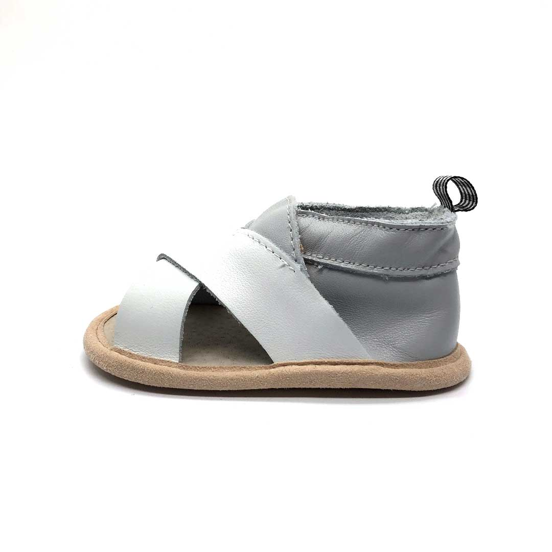 Criss Cross Sandal Grey and White