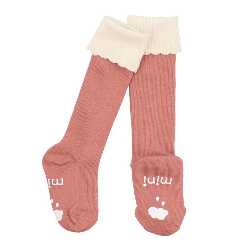 Cupcake Knee High Socks Pink