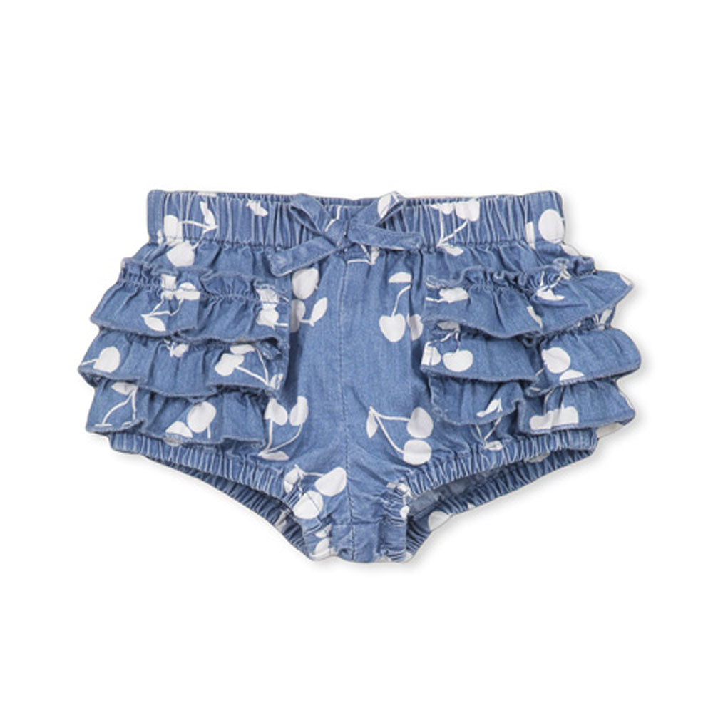 Denim Cherry Baby Bloomer