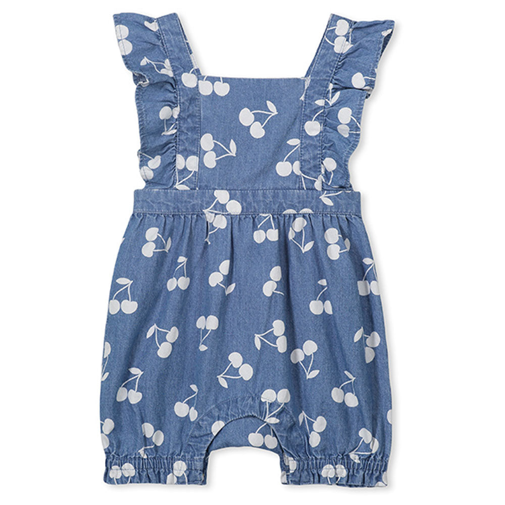 Denim Cherry Baby Playsuit