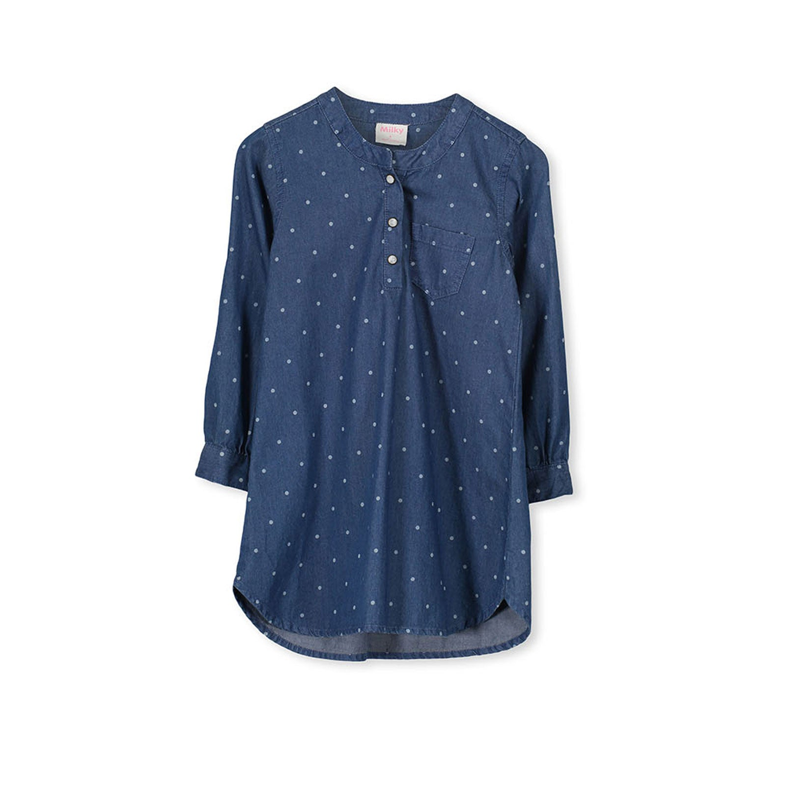 Milky Baby Denim Spot Dress Baby Bootique