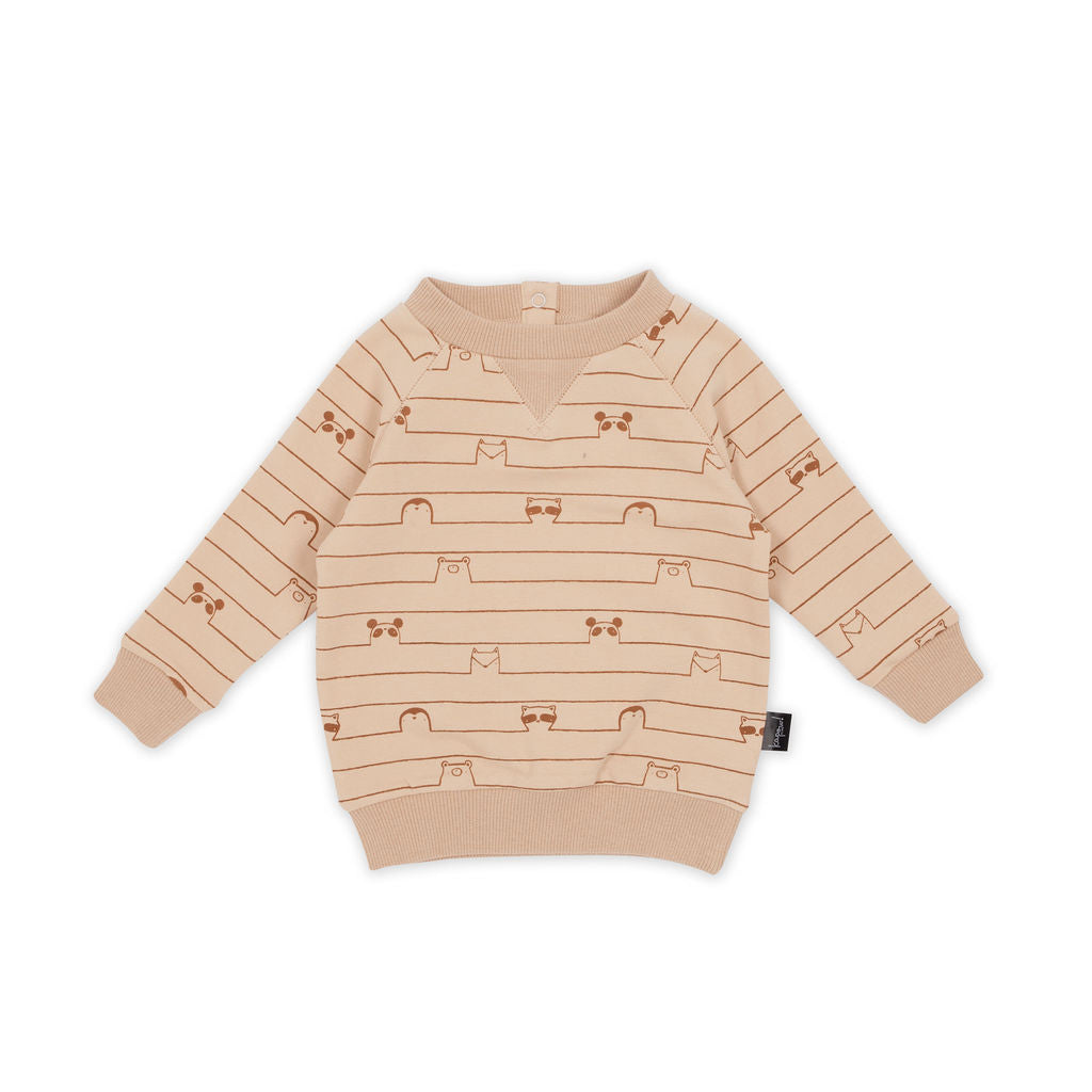 Disrupted Stripe Sweater