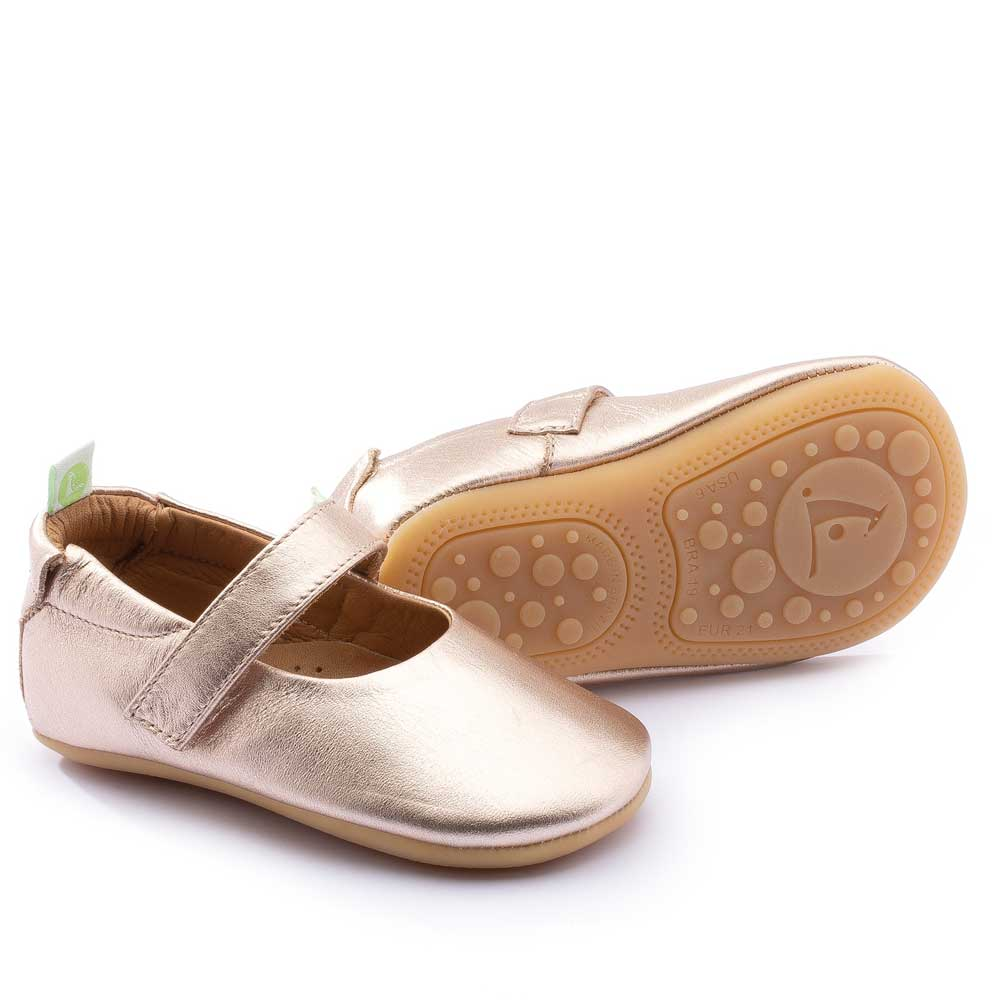 Dolly Baby Shoe Metallic Salmon