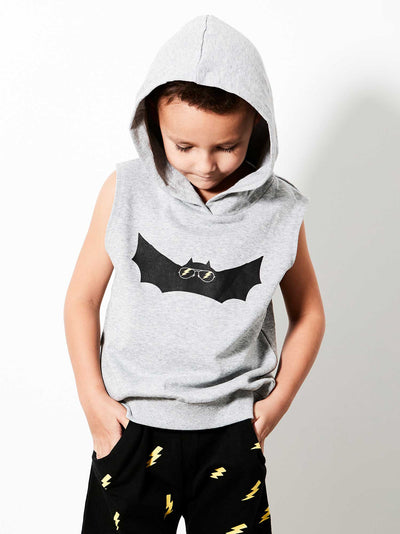 Electric Bat Vest with Hoodie