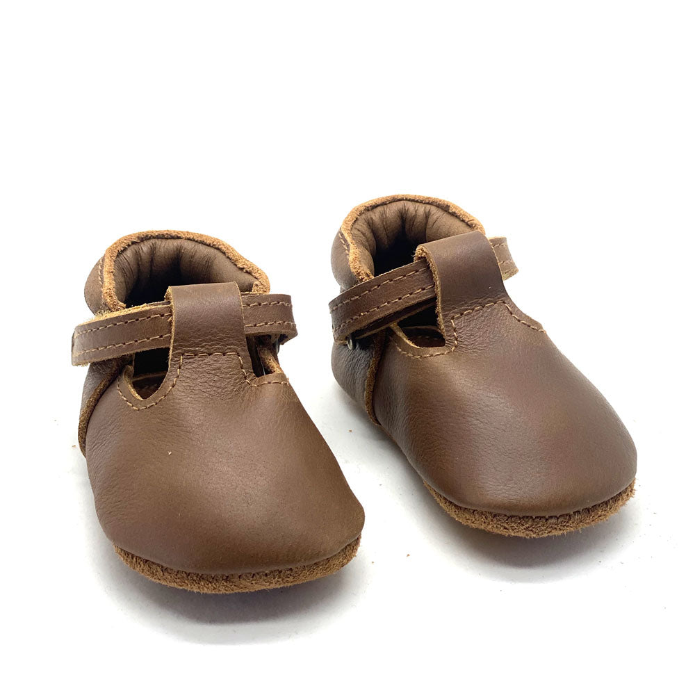 Elia Baby Mary Jane Cognac