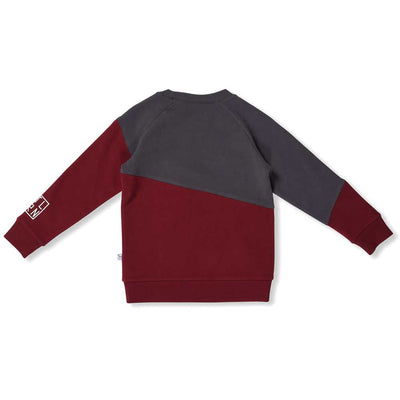 Enzo Sweat Asphalt/Dark Red