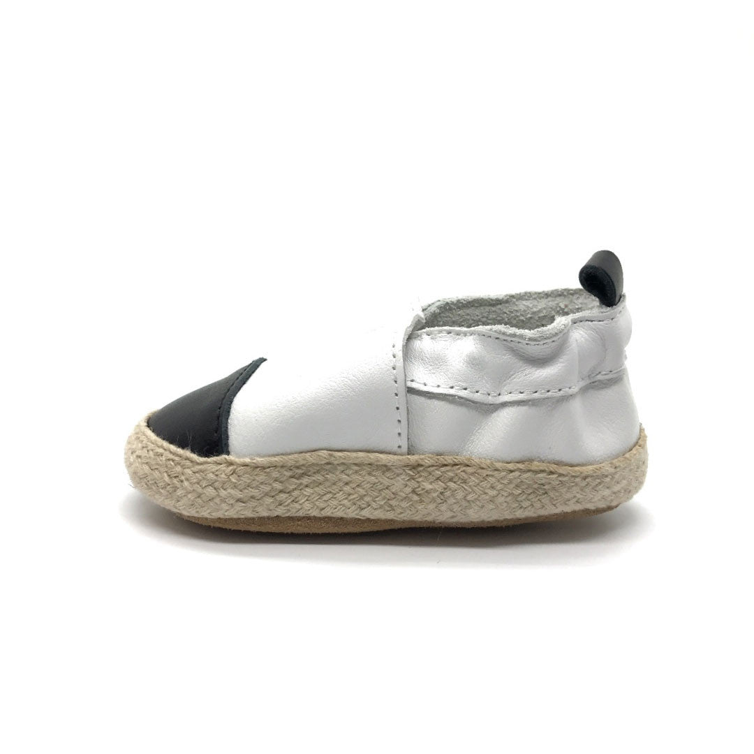 White with Black Toe Espadrille