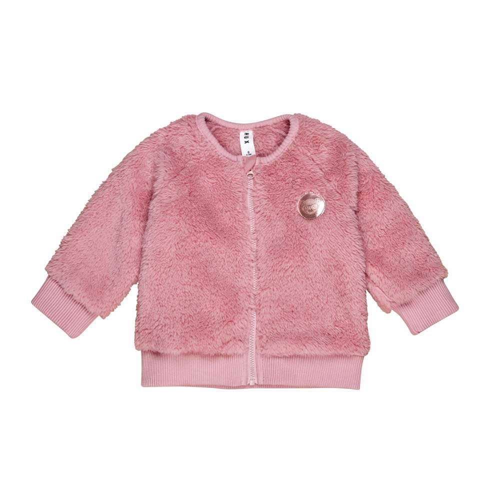 Faux Fur Jacket Dark Rose