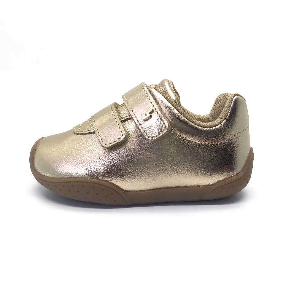 Fisioflex Baby Sneaker White Gold