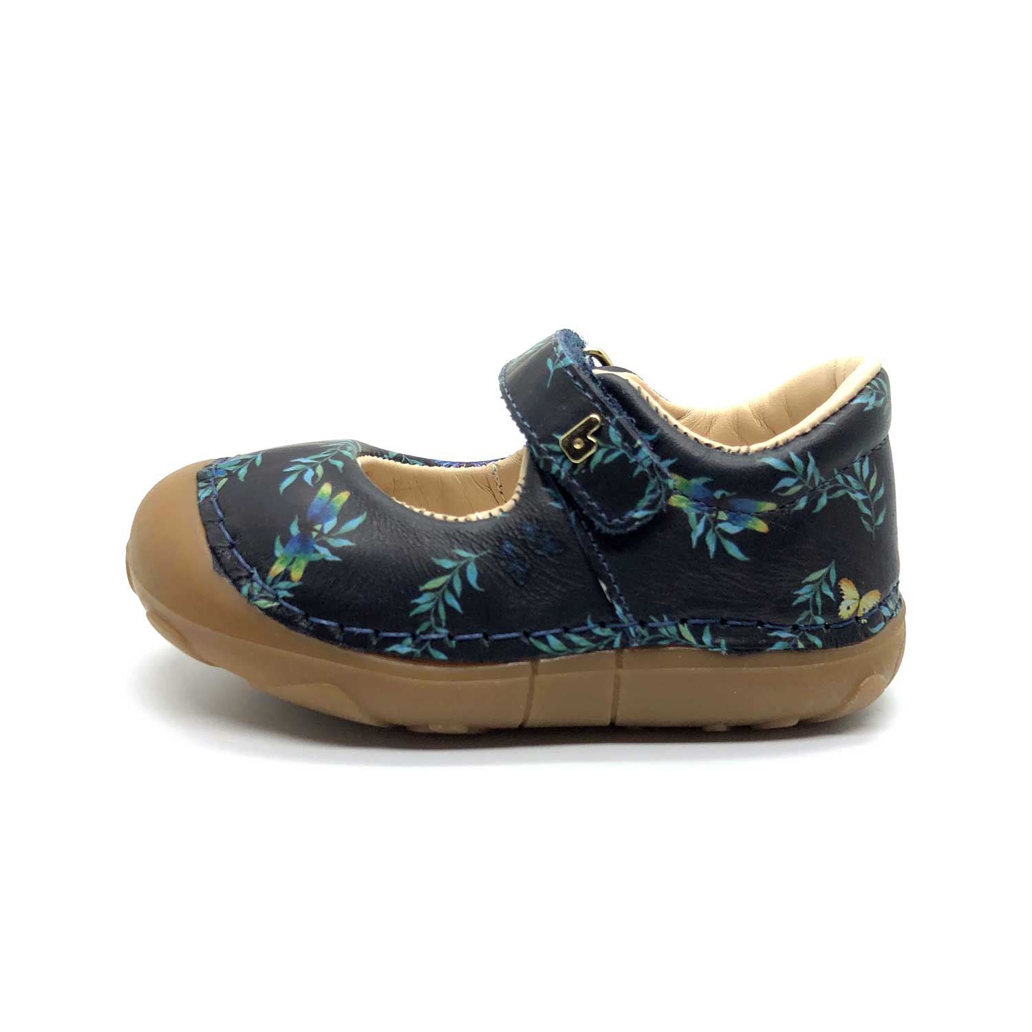 Floral Mary Jane Navy