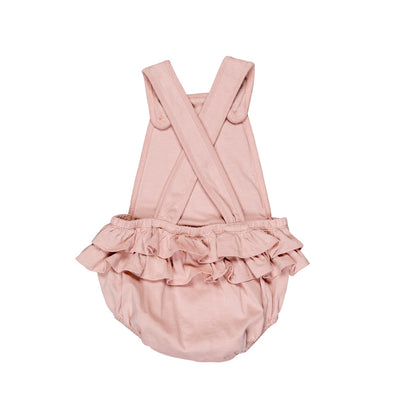 Flower French Playsuit Rose