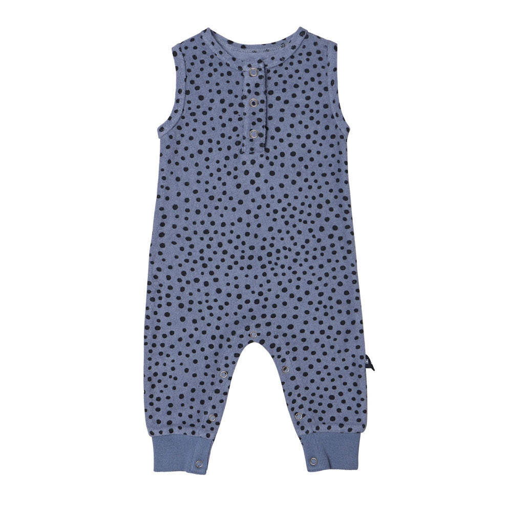 Organic Freckle Jumpsuit Deep Blue