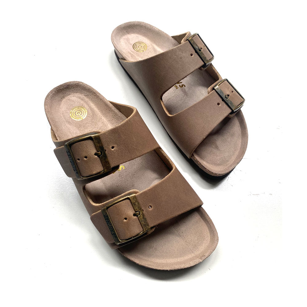 Womens Hawaii Oiled Leather Sandal Tobacco
