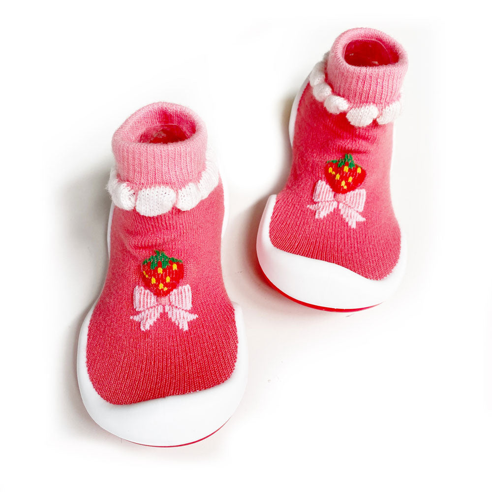 Strawberry Baby Sock Shoe