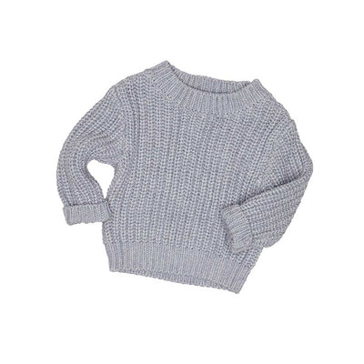 Chunky Knit Jumper Grey Marle