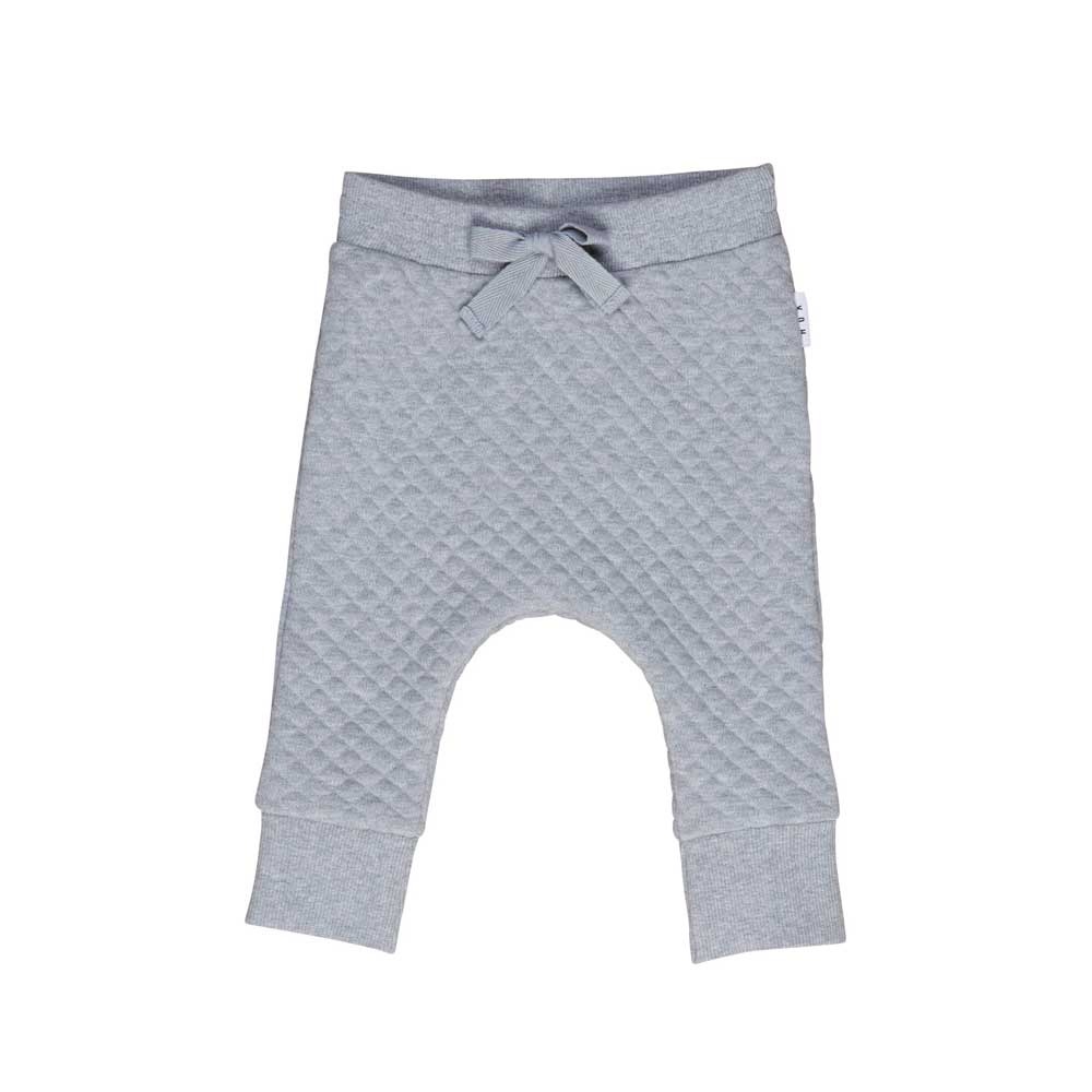 Grey Marle Stitch Drop Crotch Pant