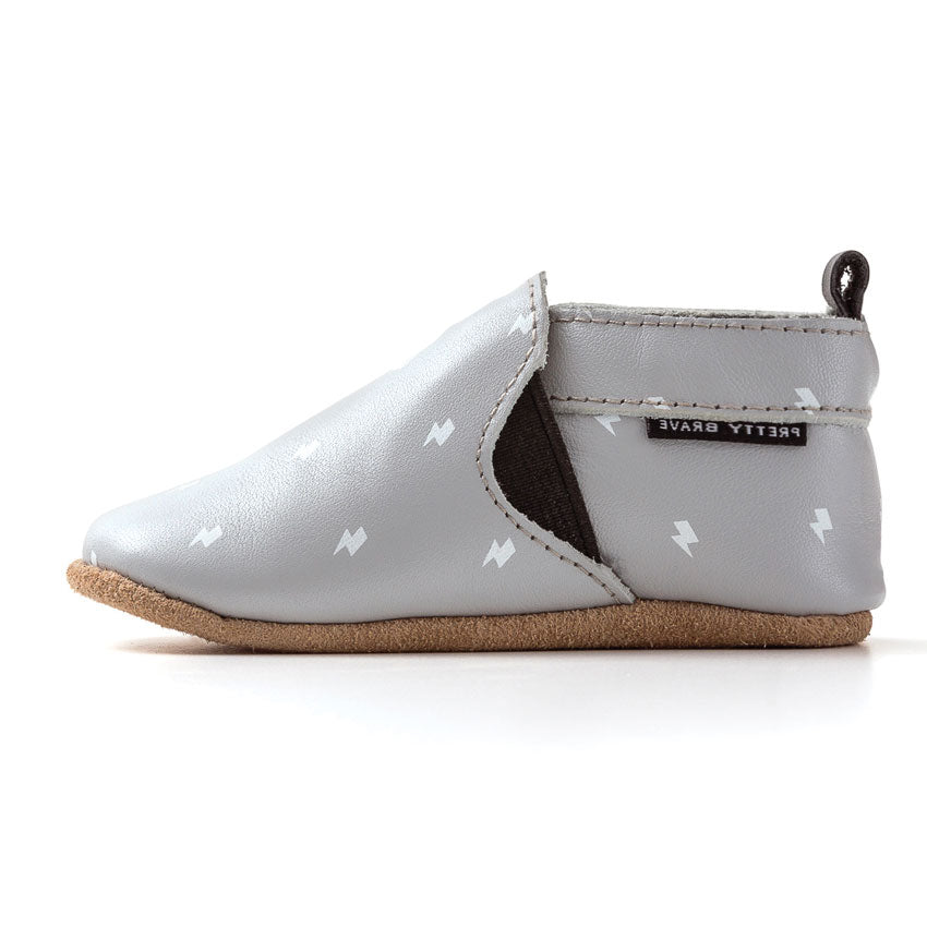 Grey Slip On Baby Shoe