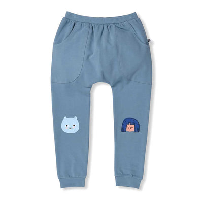 Happy Bear Sweatpants Teal