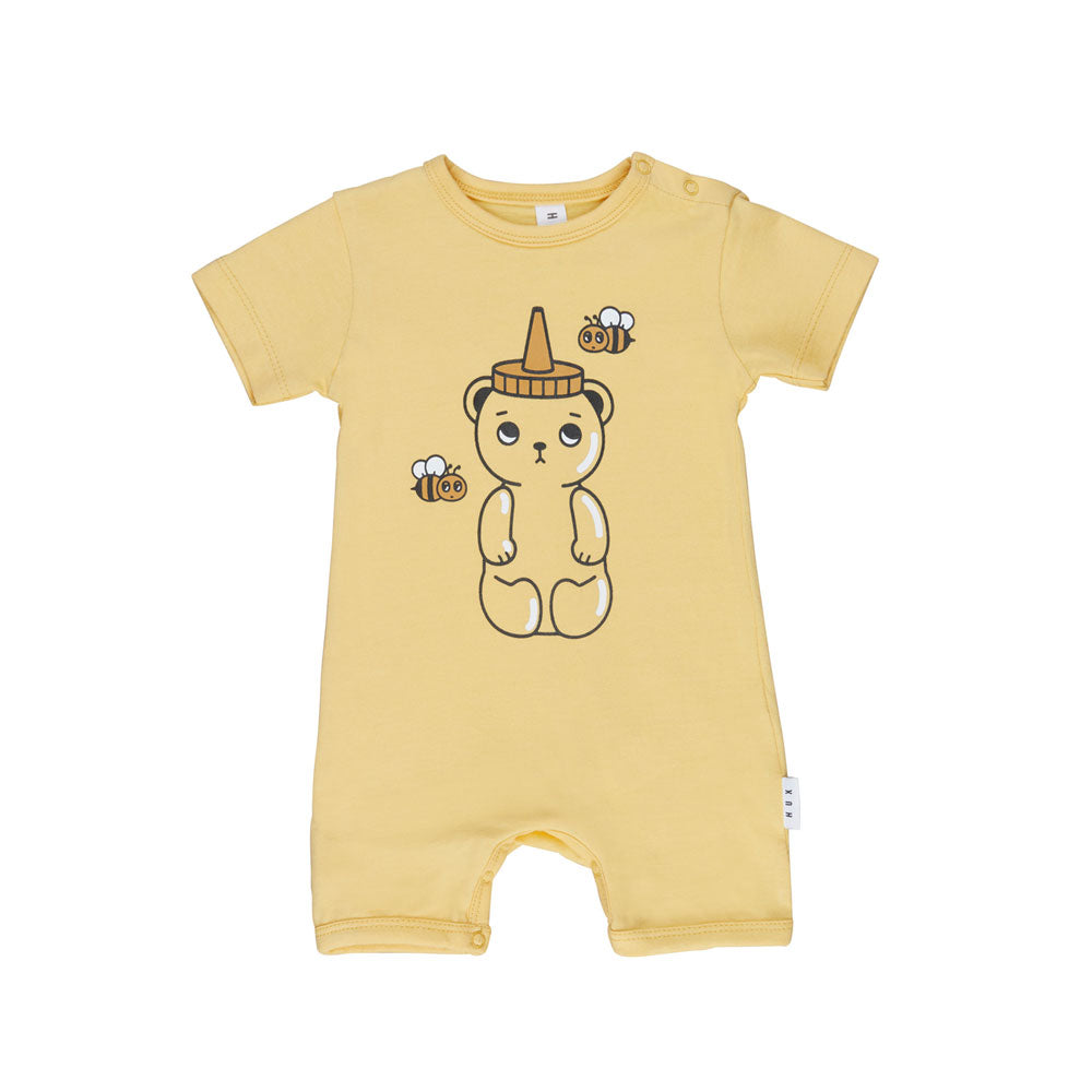 Honey Bear Short Romper