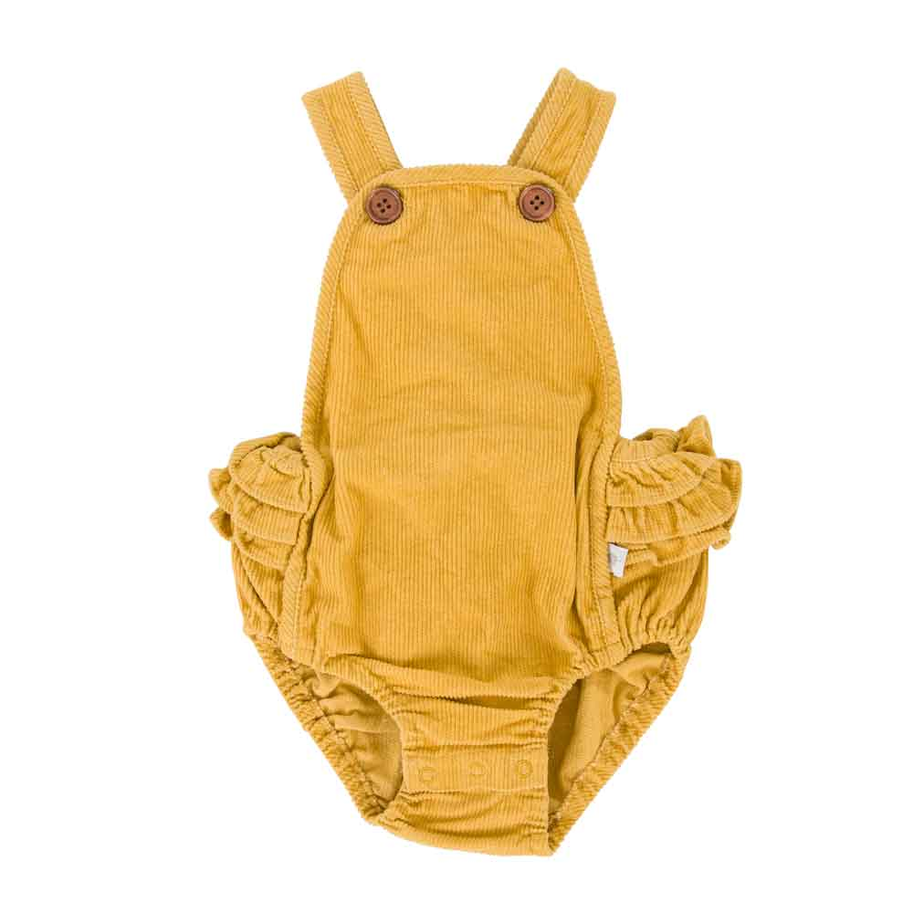 Jane Playsuit Mustard Cord