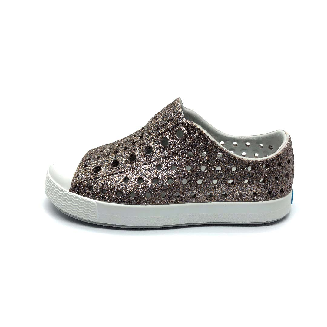 Jefferson Shoes Metal Bling/Shell White