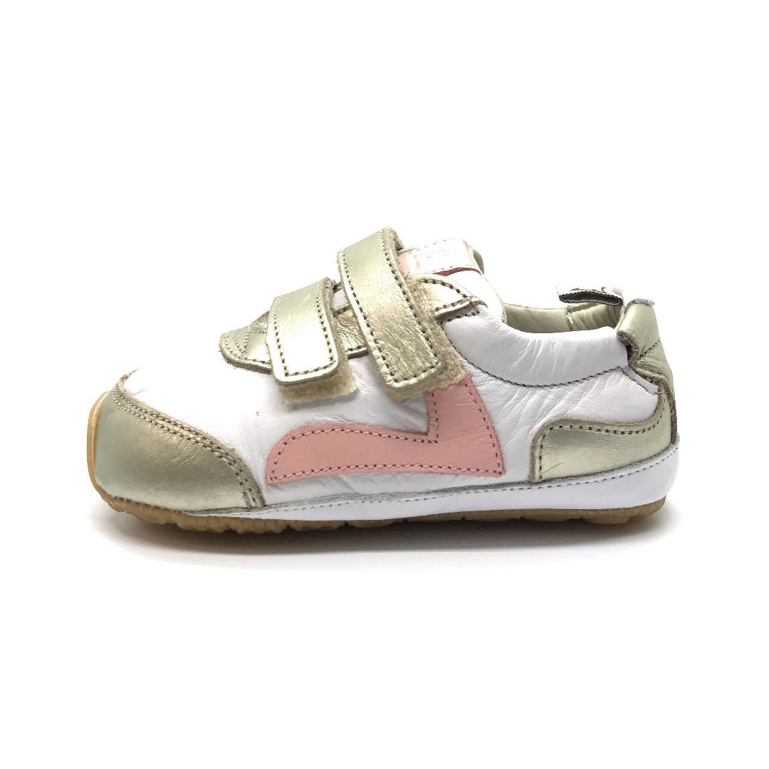 Jumpy Baby Shoe White/Whitegold
