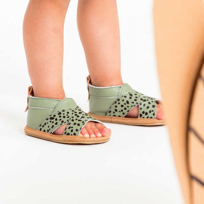 Cross Over Jungle Spots Baby Sandal
