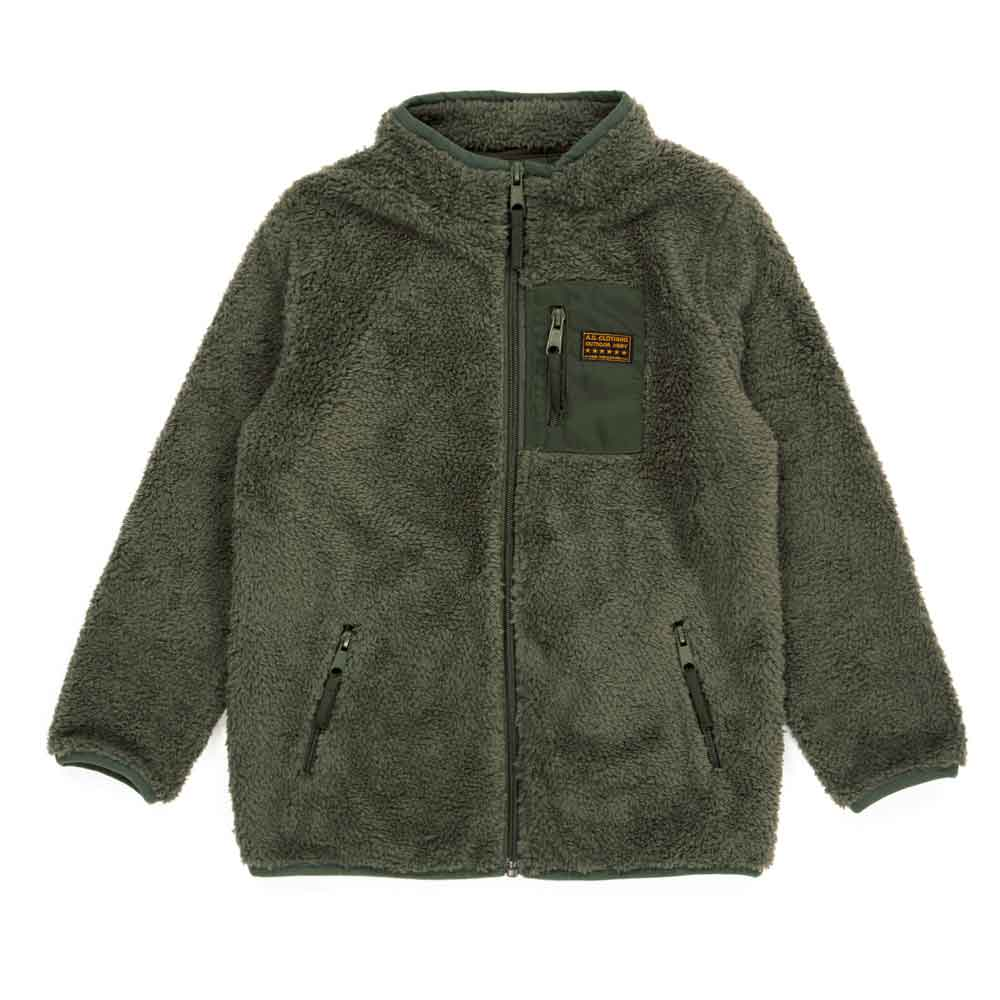 Sherpa Kids Jacket Green