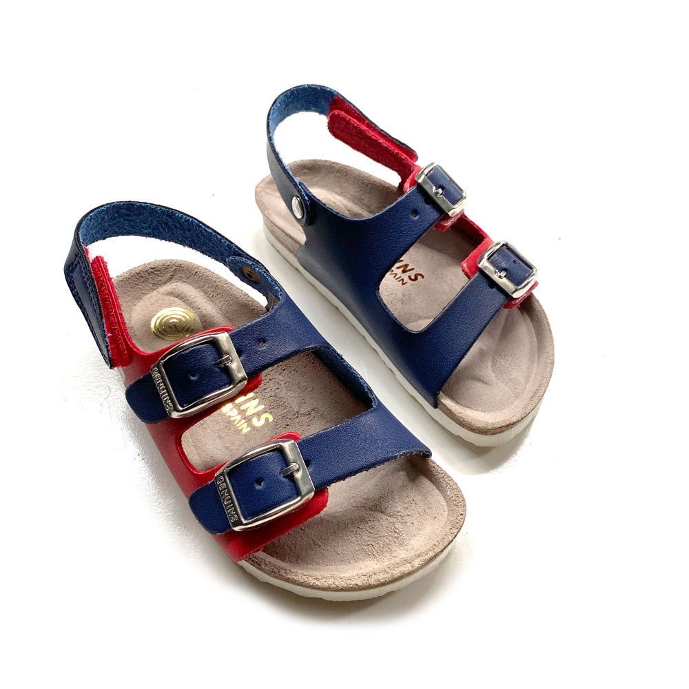Kindu Vanchetta Kids Sandal Navy + Red