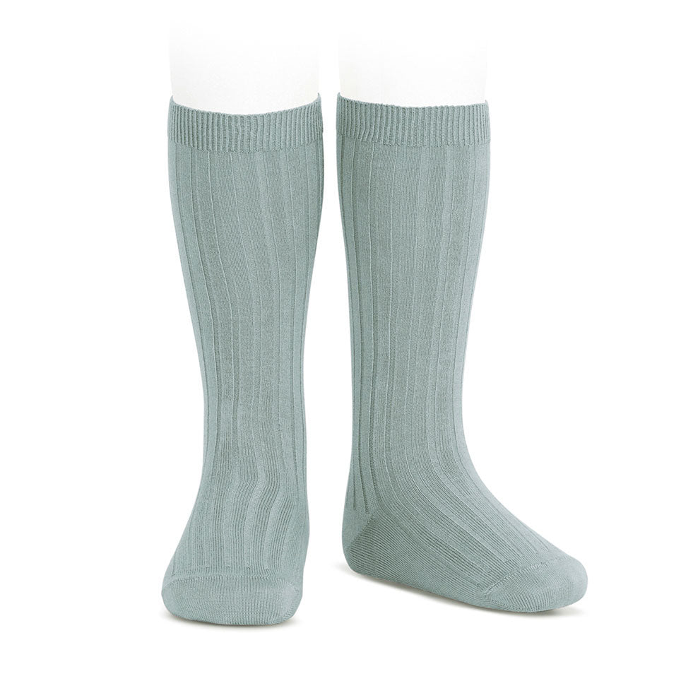 Rib Knee High Sock Verde