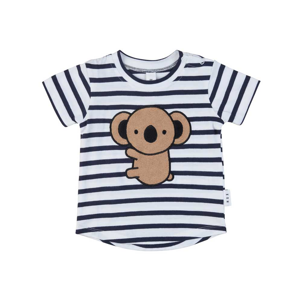 Koala T-Shirt Navy and White Stripe