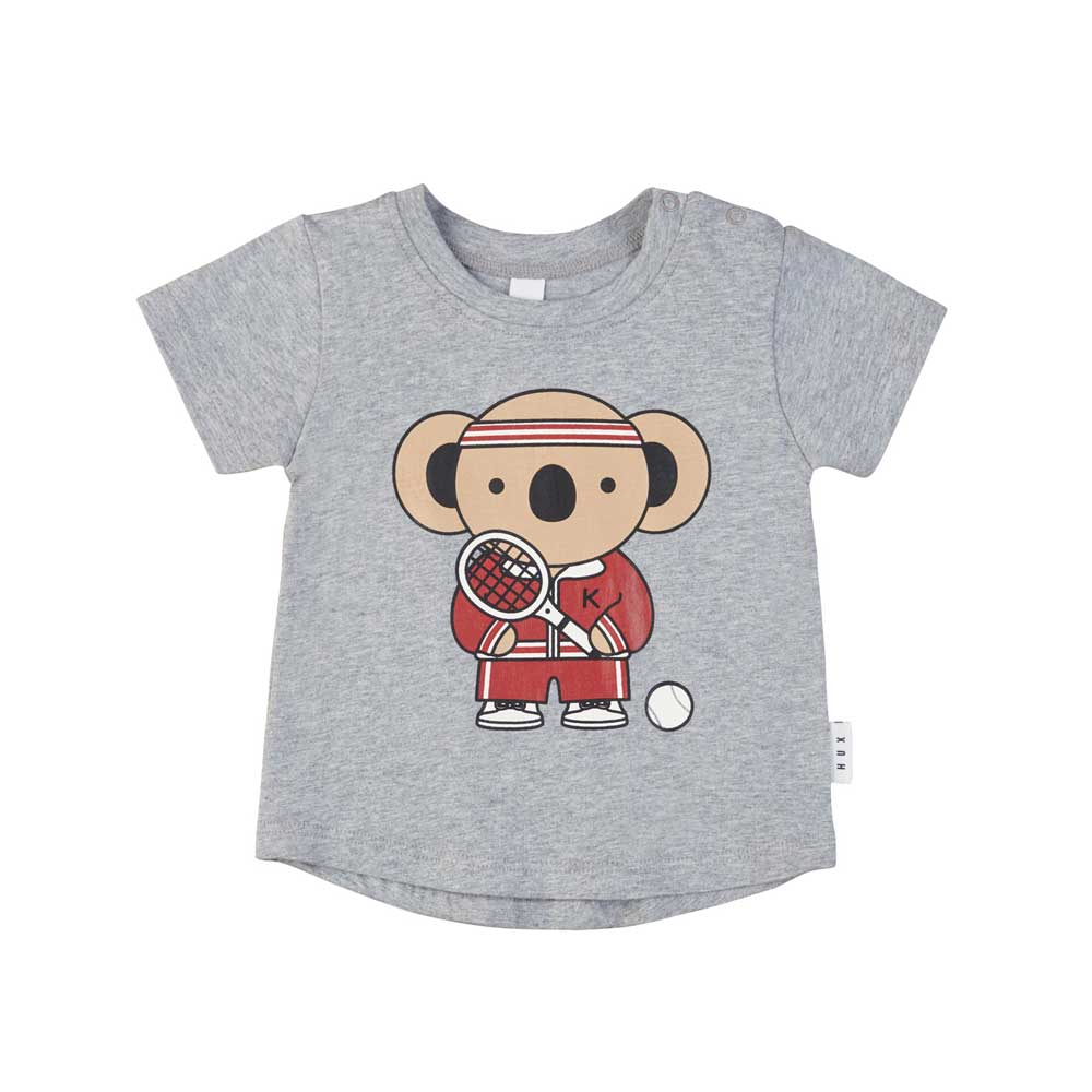 Tennis Koala T-Shirt Grey