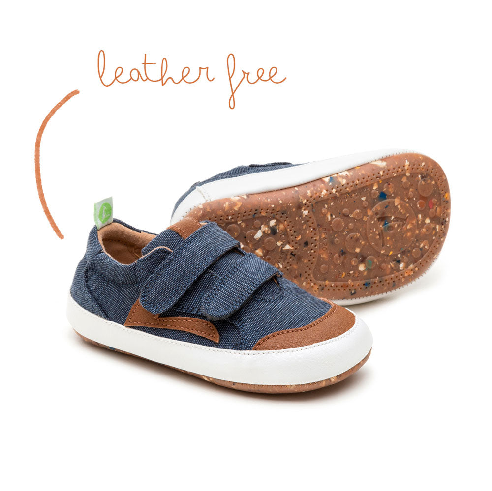 Landy Baby Shoe Blue Eco Canvas (green range)