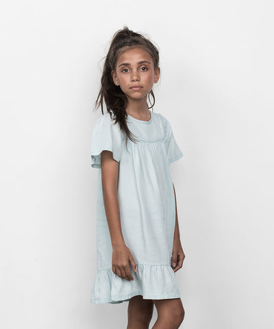 Leah Chambray Girls Dress