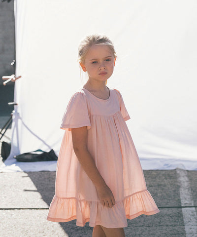 Leah Girls Dress Light Pink