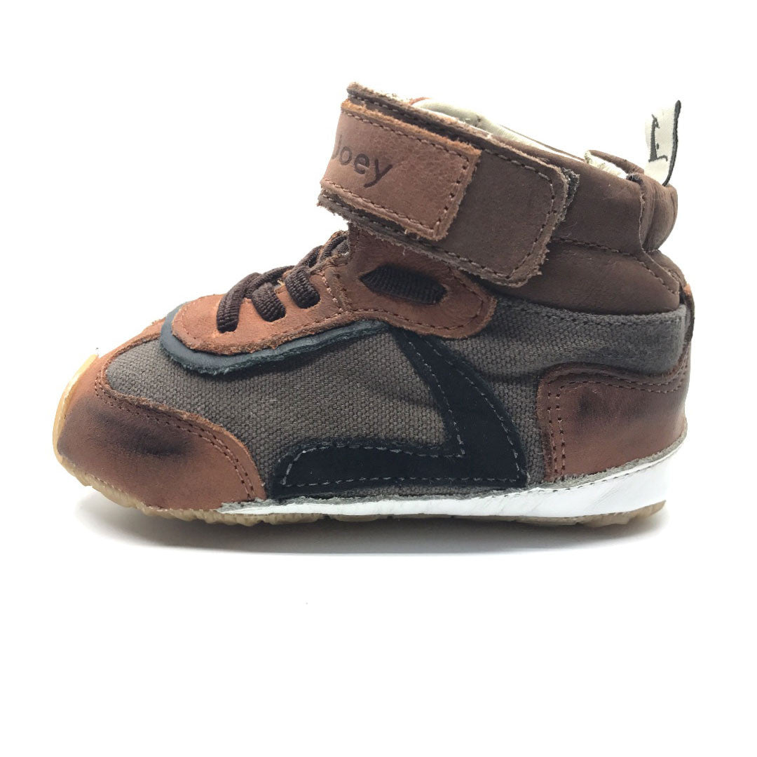 Leapy High Top Dark Grey and Brown