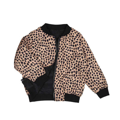 Reversible leopard/black padded jacket