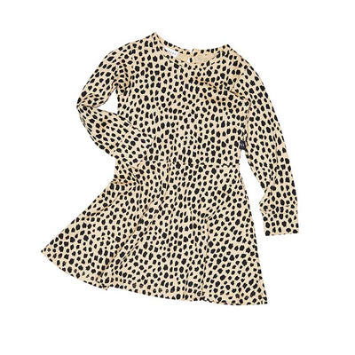 Leopard Skater Girls Dress
