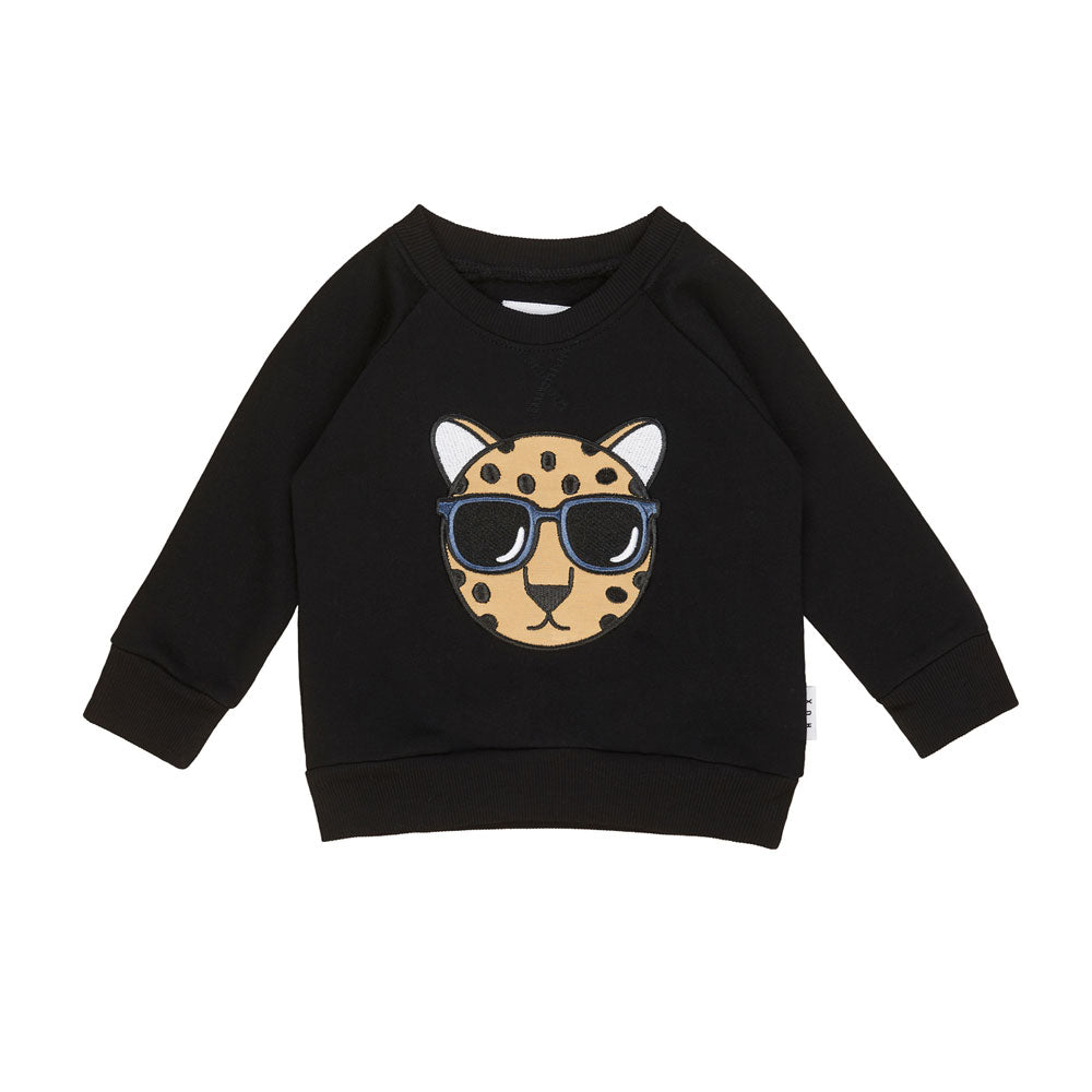 Leopard Sweatshirt Black
