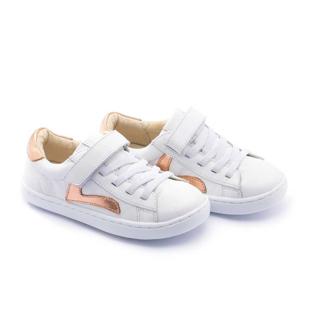 Little Skid Sneaker White Copper Shine