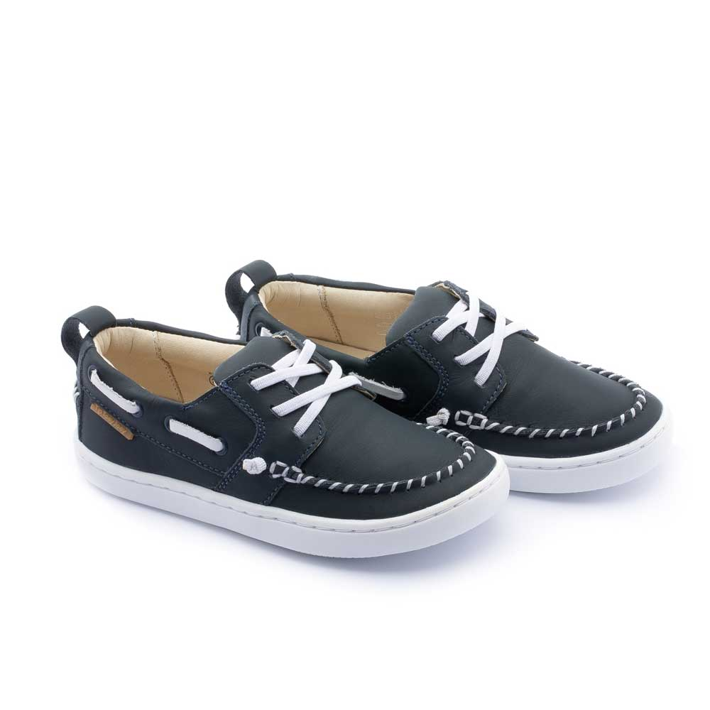 Little Snap Boat Shoe Navy