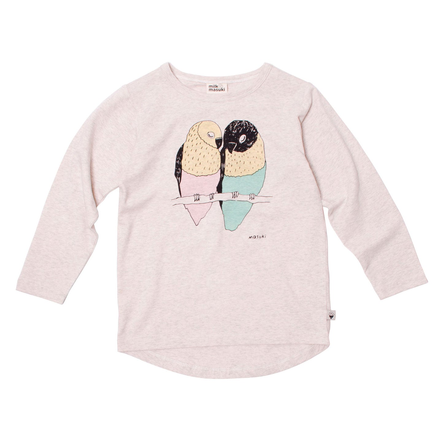 Lovebirds Long Sleeve Girls Tee