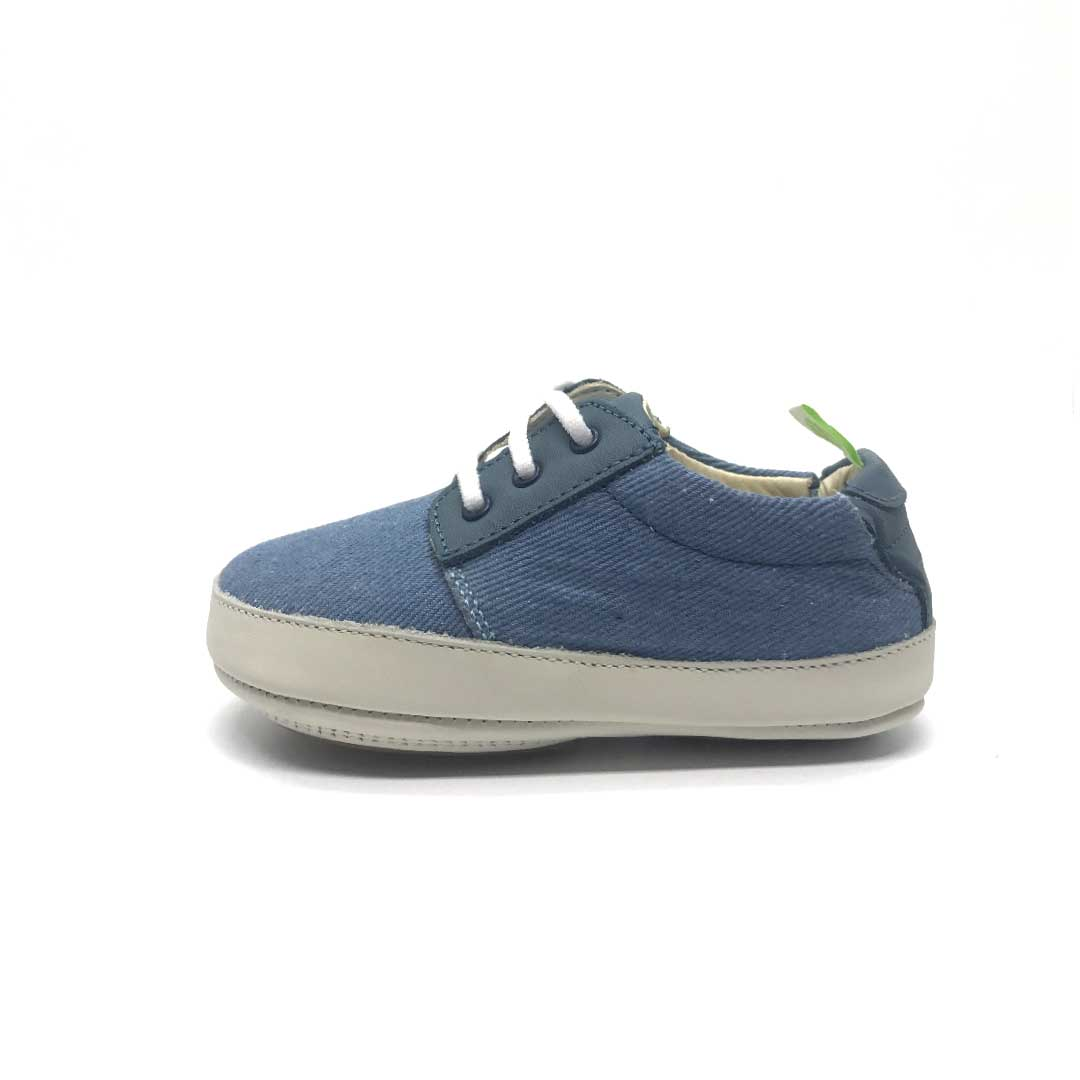 Lucky Baby Shoe light denim canvas