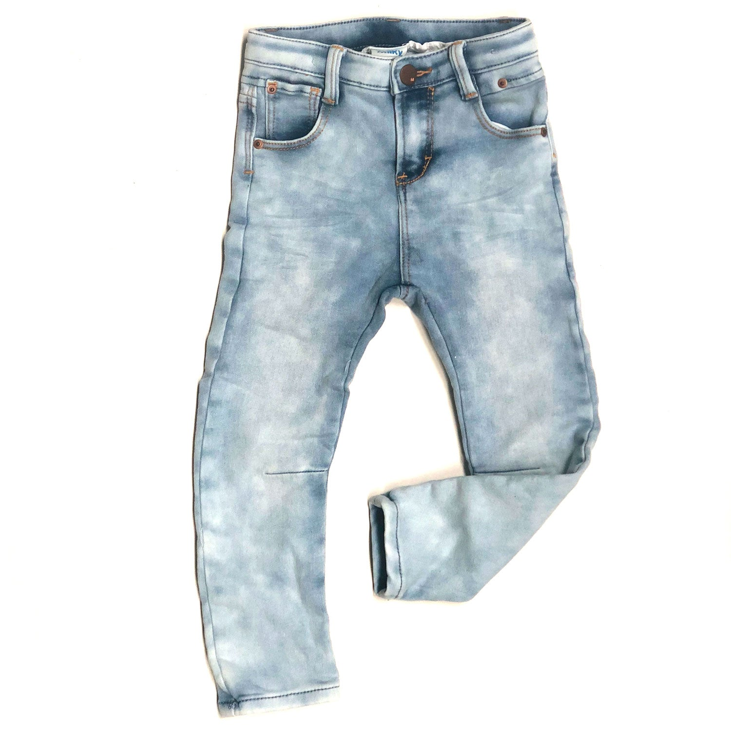 Washed Denim Knit Baby Jean