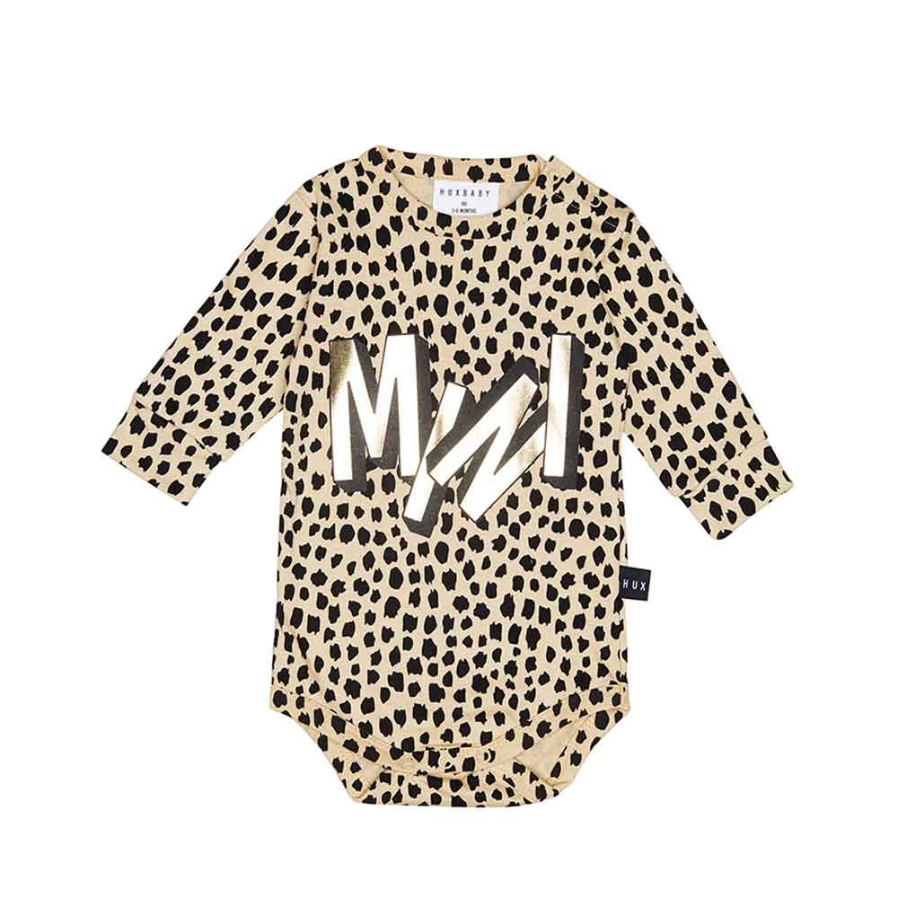 Mini Long Sleeve Onesie Oyster
