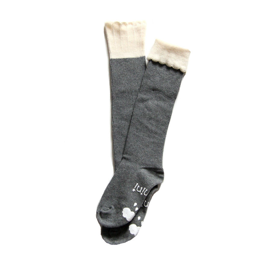 Cupcake Knee High Socks Grey