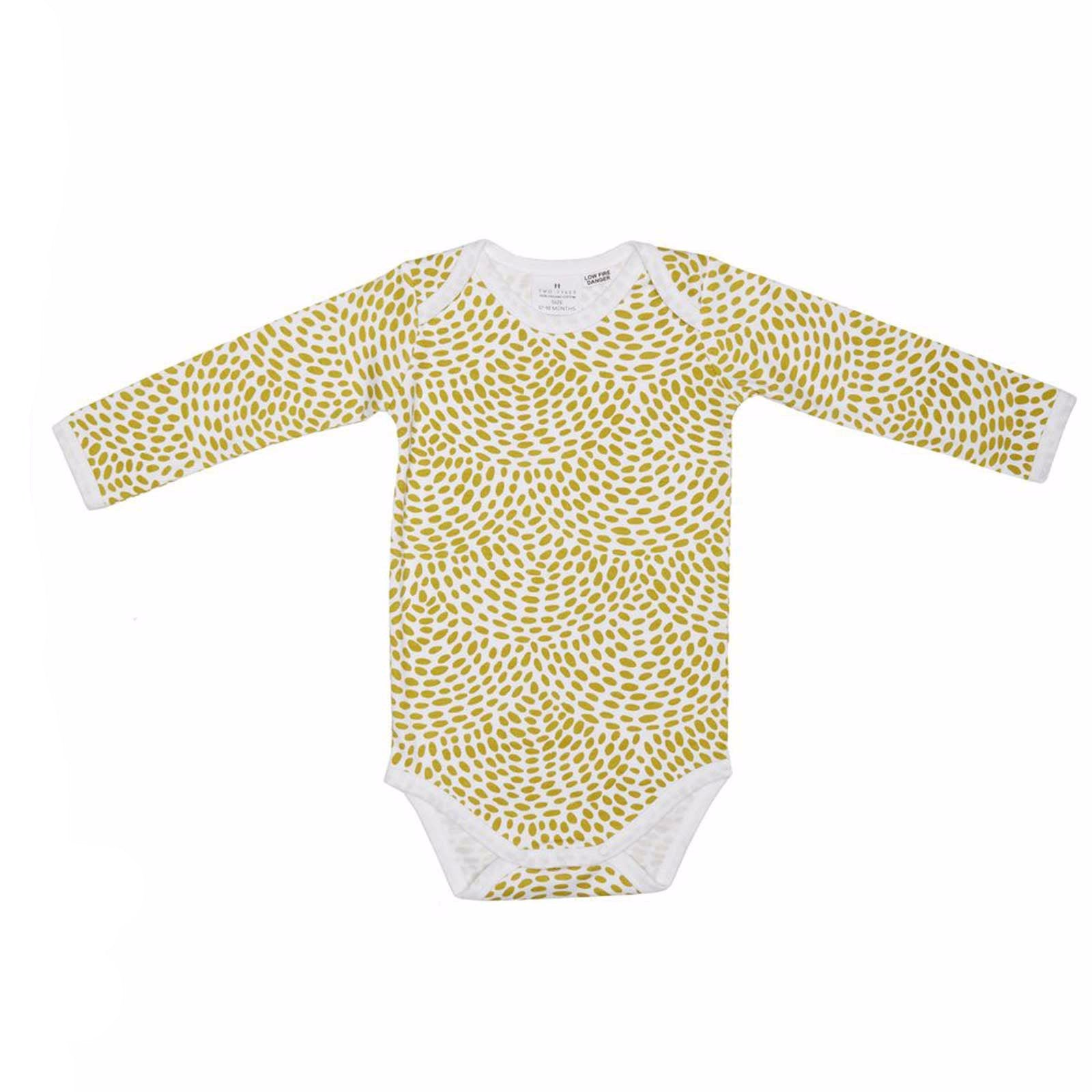 Two Tykes Long Sleeve Moss Onesie