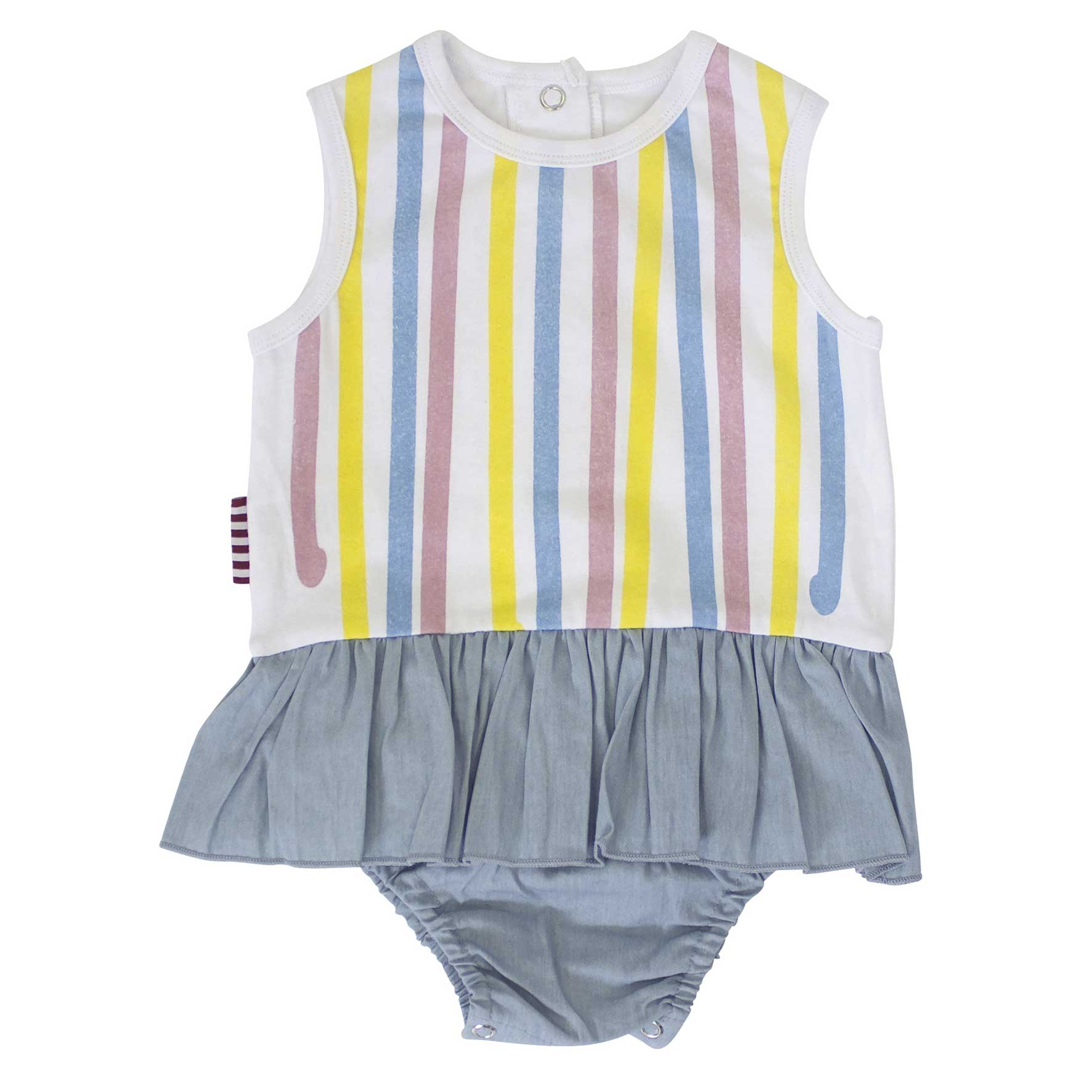 Multi Stripe All in One Skirt Bloomer